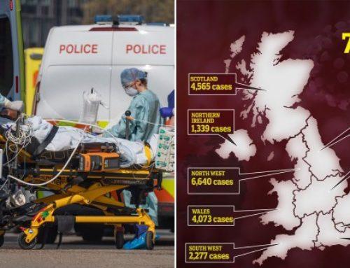 Another 917 dead as UK coronavirus death toll nears 10,000